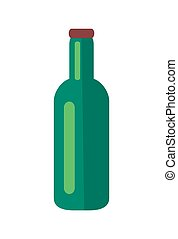 Glass Bottle of Beer Isolated Illustration