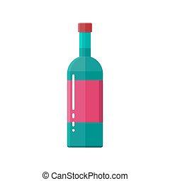 glass bottle of wine.