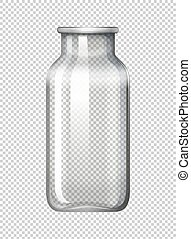 Glass bottle on transparent background illustration