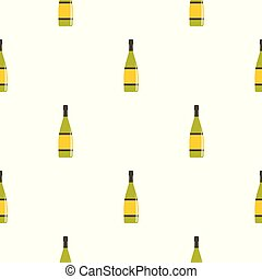 Glass bottle pattern seamless