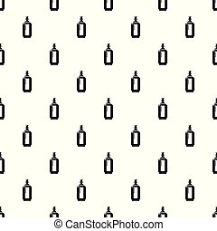 Glass bottle pattern vector seamless