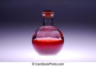 Glass Bottle - Photo of a Glass Medical Bottle
