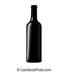 glass bottle wine dark design