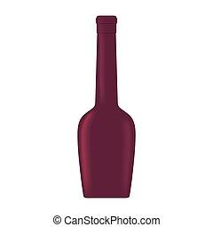 glass bottle wine liquid design
