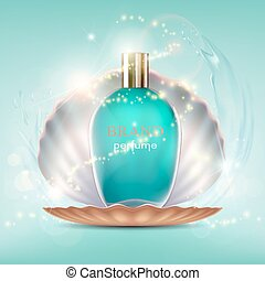 Glass bottle with a perfume