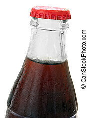 glass bottle with cola