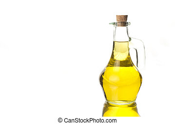 Glass bottle with olive oil