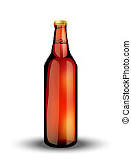glass bottle with the drink