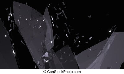 glass Breaking with slow motion