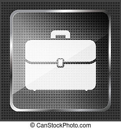 glass briefcase icon