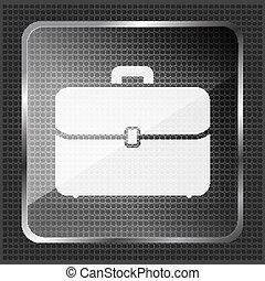 glass briefcase icon