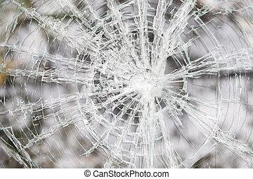 Glass broken automobile