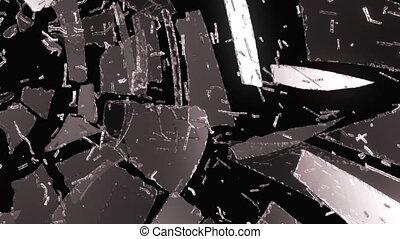 Glass broken or shattered slowmo