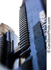 Glass Buildings. Business Architecture, Singapore