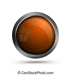 Glass button orange color.