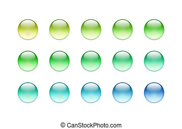 Glass buttons 02 - Bunch of colorful web buttons
