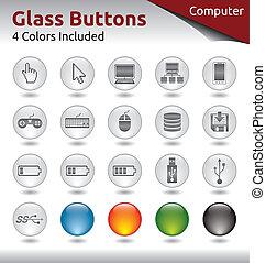 Glass Buttons - Computer