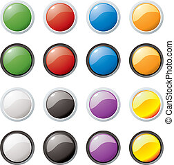 glass buttons rim - Illustration of colored buttons with an ...