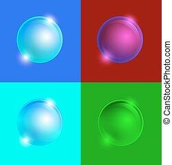 glass buttons