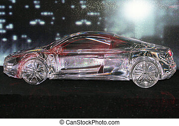 Glass car model