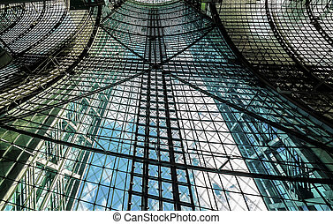 Glass ceiling at the train station