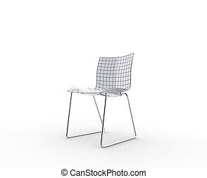 Glass Chair Studio Shot