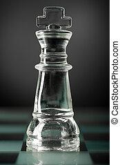 glass chess king