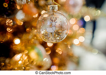 Glass Christmas tree decoration toy in the form of a ball