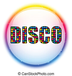 Glass Circle Color Disco Ball - Vector - Glass Circle Color...