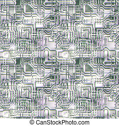 glass circuitry - large abstract image of glass and chrome ...