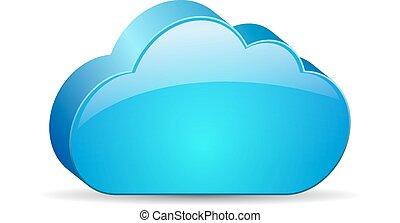 Glass cloud icon