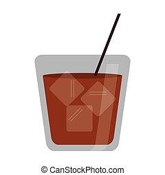glass cocktail drink ice straw