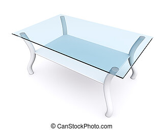 table - glass coffee table. 3d