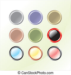 Glass color buttons