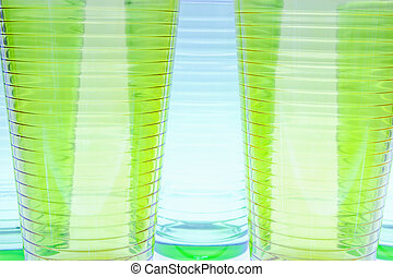 glass color isolated on white background