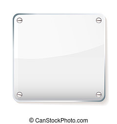 Glass company name plate - Copy space for your company name...