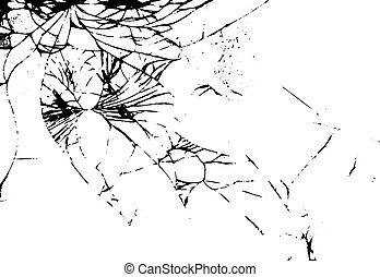 Glass crack on white background. Isolated vector illustration