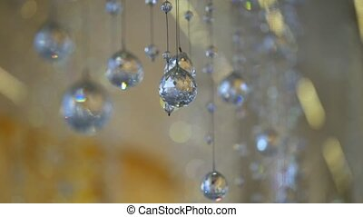 Glass crystal balls decoration interior