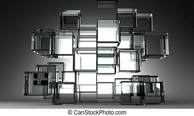 Glass Cubes Abstract - Loop Able Glass Cubes Abstract On...