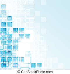 Glass Cubes - Abstract technical background