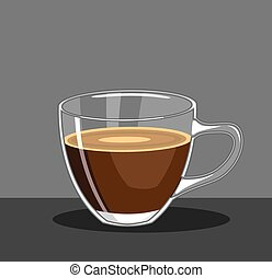Glass Cup of Coffee Vector