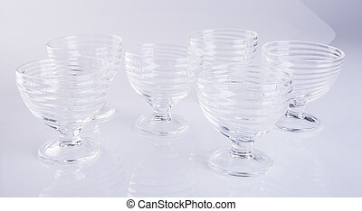 glass cup or empty glass mug on background.