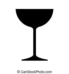glass cup wine icon vector