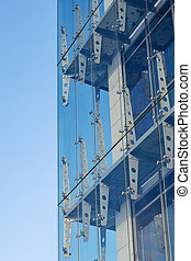 Glass curtain walls. Spider facade fixing system
