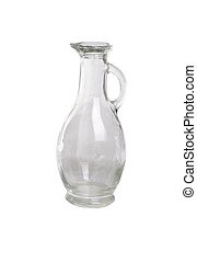 glass decanter isolation on white