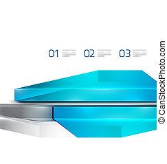 Glass digital geometrical design template
