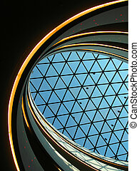 Glass dome of a modern building