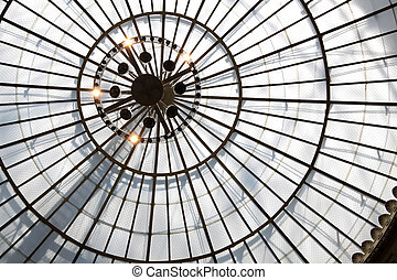 Glass dome in the Wiesbaden spa hotel