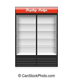Glass door display fridge illustration
