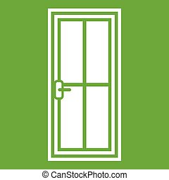 Glass door icon green